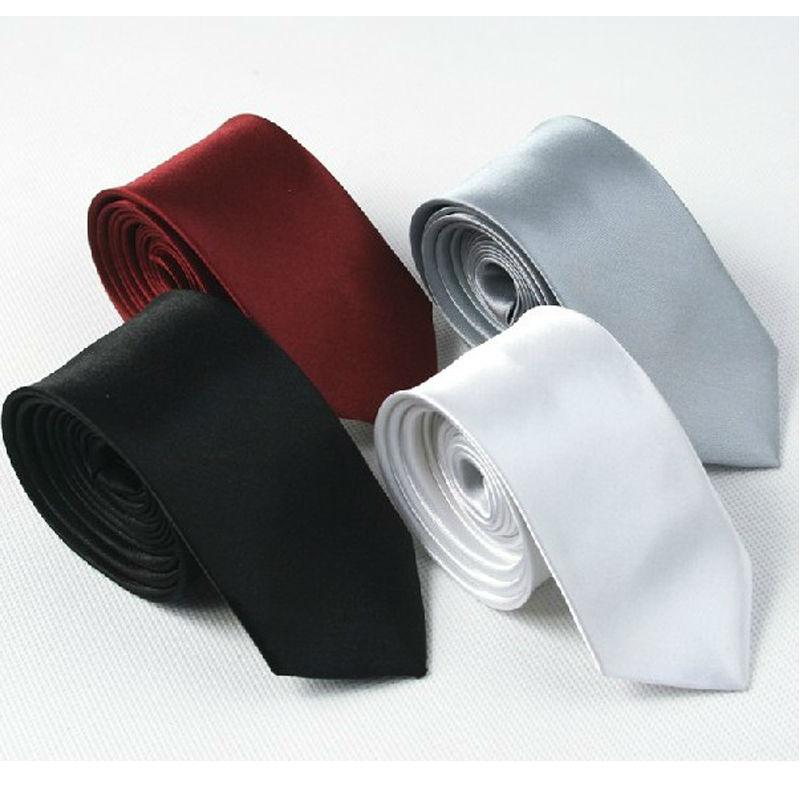 New Men's Solid Slim Ties Classic Polyester Women Neckties Fashion Plaid Mans Tie 2014 Spring Black Red Grey 5cm Width Necktie