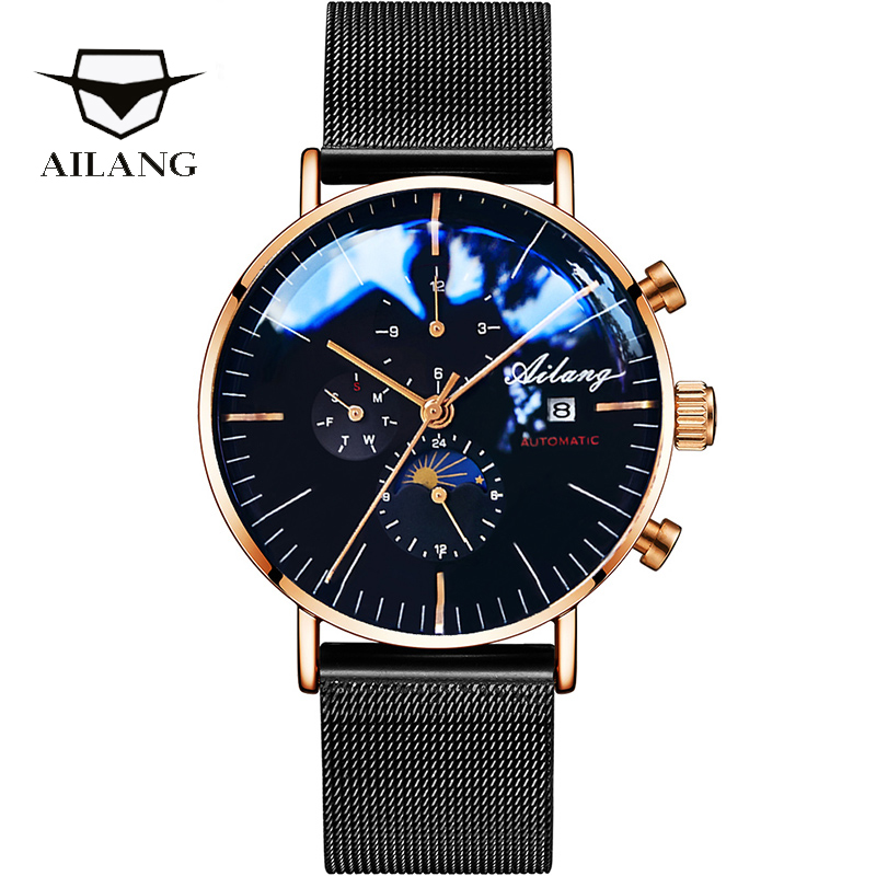 AILANG Design Brand Automatic Swiss Watch Men Mechanical Diver Watches Men's Diesel Watch SSS Minimalist male 2019 Minimalism