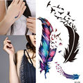 5pcs Fashion Waterproof Small Fresh Wild Goose Tatoo Feather Pattern Tattoo Temporary Stickers Charming Body Accessories