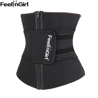 FeelinGirl Hot Shaper Slim Belt Neoprene Waist Cincher Faja Waist Shaper Corset Waist Trainer Belt Waist