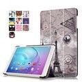 2016 Huawei MediaPad T2 10.0 Pro Case Tablet FDR-A01W/FDR-A03L Тонкий Печатных Складной Стенд PU Кожаный Чехол Фолио Обложка Книги