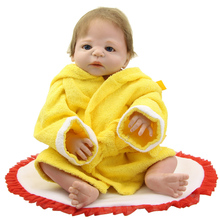 2016 HOT Sale NPK 23 Inch Reborn Baby Doll Lifelike Full Body Silicone Newborn Dolls Kids Birthday Xmas Gifts Free Pacifier