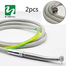 2 sztuk/paczka Dental 4 otwory rękojeść wąż rura ze złączem do szybka prostnica stomatologia materiał darmowa wysyłka