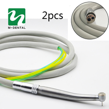 2 unidades/pacote dental 4 furos handpiece tubo de mangueira com conector para alta velocidade handpiece odontologia material frete grátis