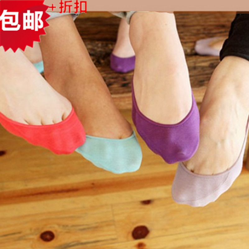 Warm comfortable cotton bamboo fiber girl women's socks ankle low female invisible  color girl boy hosiery  10pair=1pcs WS43