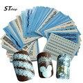 50 folhas Branco/Preto Sexy Lace Nail Stickers Transferência de Água Decalques Da Arte Do Prego Manicure Polonês Wraps Decoração Styling Tools y_NC180