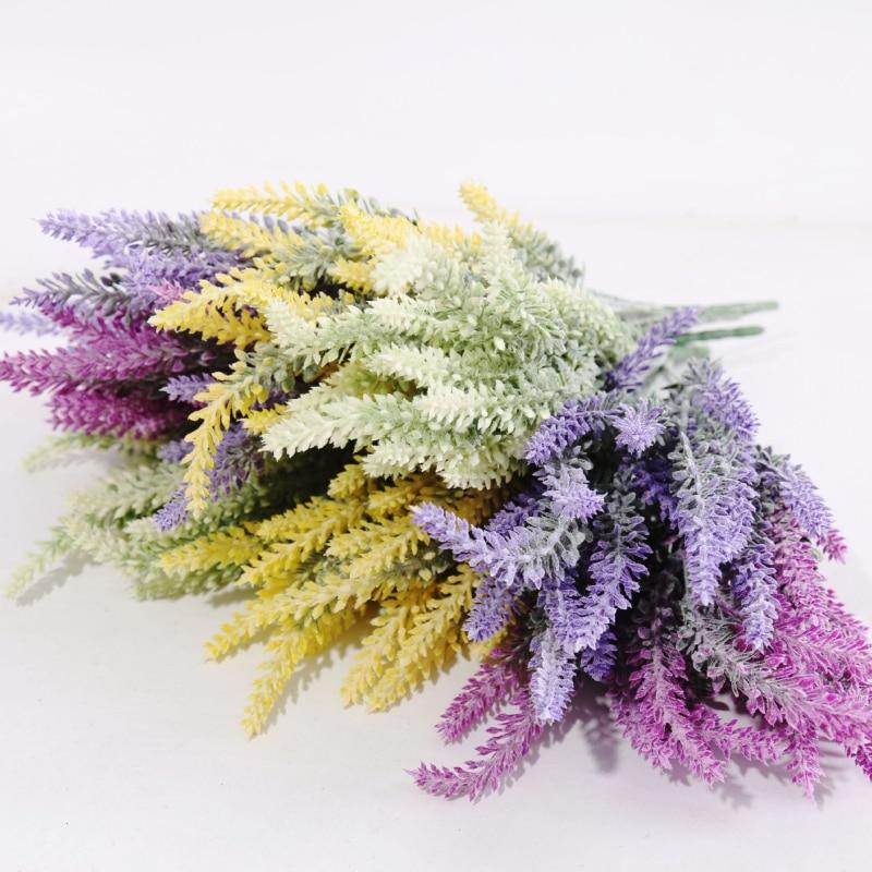 Pantalla vivid hoja real touch flores artificiales artificial lavanda flor de se