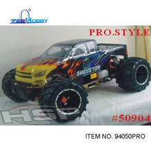 RC CAR HSP SHELETON 1/5 scale gas monster truck rc racing car 32cc engine (item no. 94050PRO)