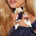2017 Moda Étnica Chocker Del Collar de la Bufanda de Seda del Faux Impresión de la Cinta del Satén Atractivo Gótico Mujeres Collares Accesorios de La Joyería de Boho