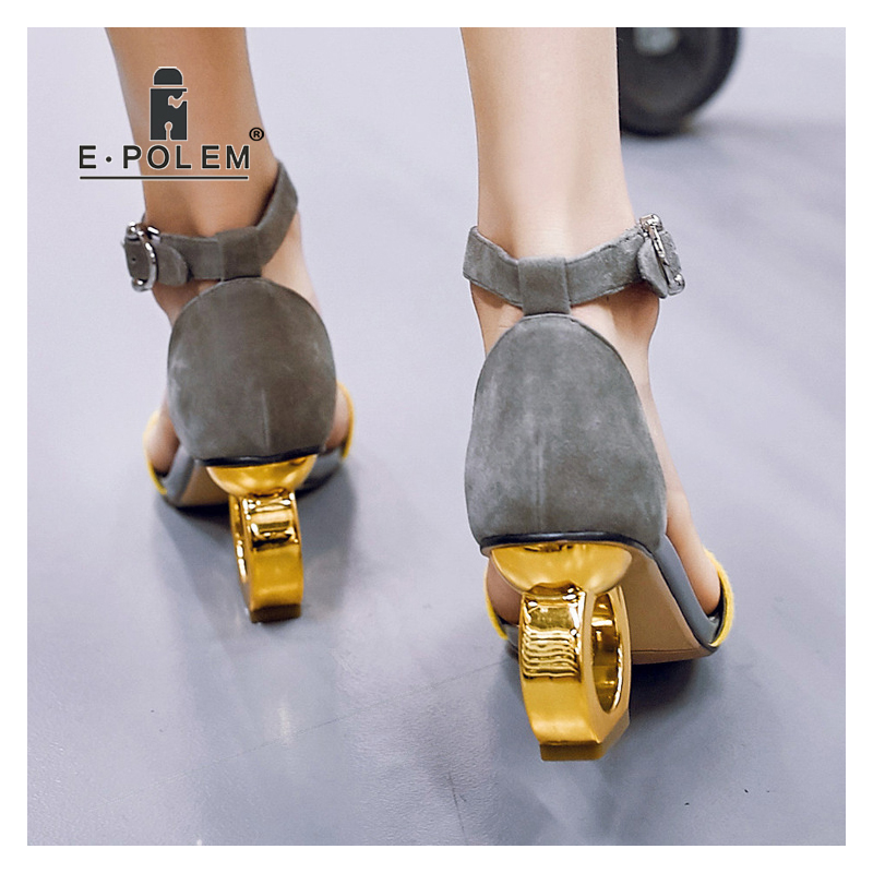 New Fashion Peep Toe High heeled Sandals Trendy Women Sexy 8CM High Heels Gladiator Sandals Footwear Female Party Dress Shoes - 5