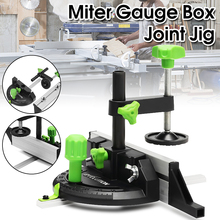 New Miter Gauge And Box Joint Jig Kit With Adjustable Flip Stop Aluminum DIY Woodworking Carpenter Tool