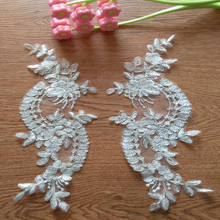 High quality Free shipping new fashion embroidery lace fabric ,guipure for dress sewing NN42