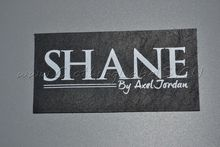 custom real leather labels for jeans, clothing, bags, genuine leather, printed logo as design, lower MOQ.