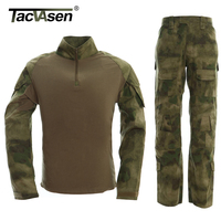 Tactical Military Uniform Clothing US Army T SHIRT PANTS Camouflage Combat Uniform Airsoft BDU Clothes With