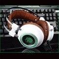 Mais novo V2 fone de ouvido Estéreo Gaming Headset gamer LEVOU Luz Hi-Fi Fones De Ouvido fone de ouvido de MP3 com microfone para computador PC