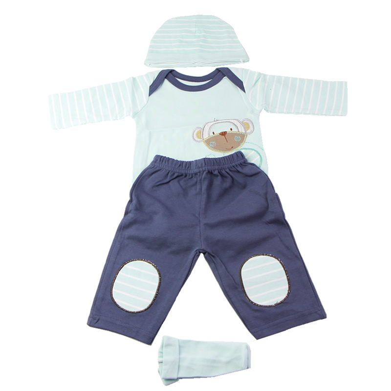 New Boy Clothes Suit For 22-23 inch Reborn Baby Dolls Hat Shirt Trousers Socks 4 pcs Baby Doll Clothing Accessories Xmas Gifts 30 new styles festival gifts top trousers lifestyle suit casual clothes trousers for barbie doll 1 6 bbi00636