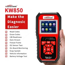 KW850 OBDII/EOBD Code Reader 8 Languages Car Computer Fault Scanner Car Troubleshooting Computer Auto Diagnostics Scan Tool new turbogauge iv auto trip computer scan tool digital gauge 4 in 1 automotive computer for vehicles