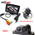 Wireless Transmitter Car Parking Sensor System with 4.3'' LCD Monitor 2 in 1 Back Camera Radar Parktronic