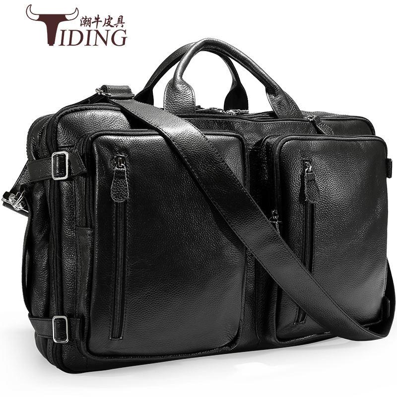 17 Briefcase Men Laptop Large Travel Business Bags Cow Leather 2018 New Man Fashion Brand Designer Top Quality Handbags Bag 3colors hk dashan brand men s briefcase high quality pu leather business man 15 laptop handbags black fashion casual male bags