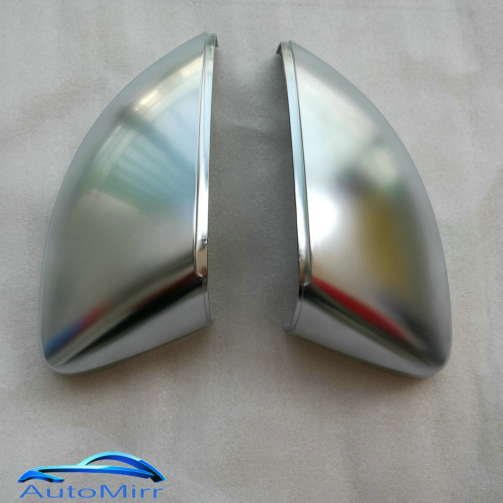 Kibowear for Audi A3 8V S3 RS3 Side Wing Mirror Covers Caps Silver Matt chrome Brushed