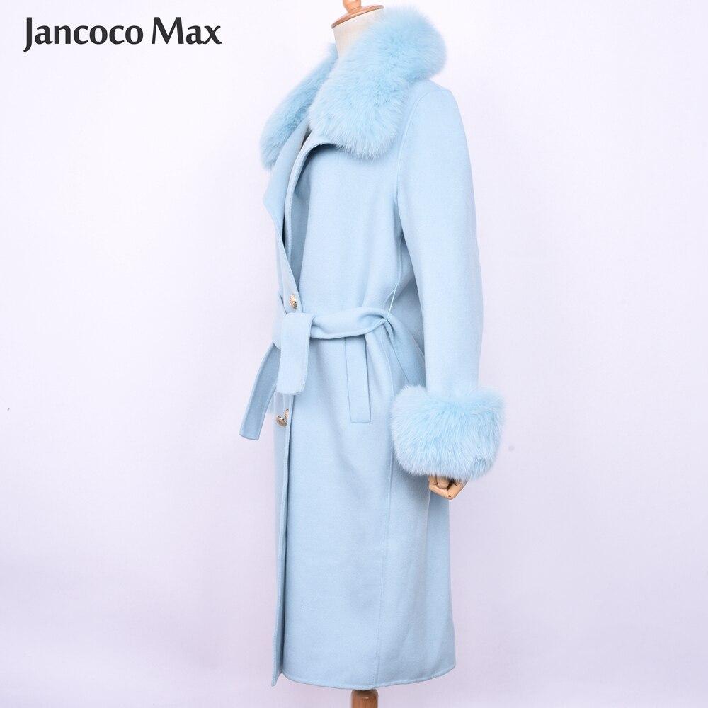 2019 Long Femmes Pink Cachemire Blue light Manteau Top De Naturelle Mode Renard Qualité Fourrure hot Beige Nouveautés Manteaux Réel S7519 Survêtement vIr7vU