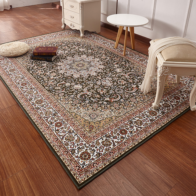 Deluxe Turkish Persian area carpet living room sofa table pad bedroom full bedside kitchen restaurant study Retro rug soft home