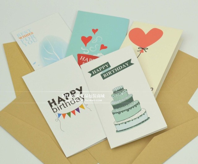 European simple blessing thanks greeting card business greeting