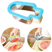 YHYS 1PC Creative Watermelon Slicer Ice Cream Mold Vegetable Cutting Tool Kitchen Accessories Stainless Steel Simple Form