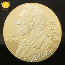 Nobel Prize in Physiology Medicine Lenin Commemorative Coin 999 Gold Nobel Medal Coins Collectibles Art Coins of Russia цена