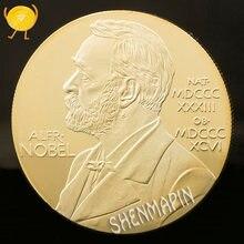 Памятная монета Нобелевской премии в физиологической медицине Ленина 999 Золотая Нобелевская медаль искусство монеты России