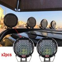 Круглый 320 Вт Красный светодиодный дальнего света 4x4 Светодиодный внедорожный свет 320 Вт светодиодный рабочий свет 12 В для внедорожника ATV UTV