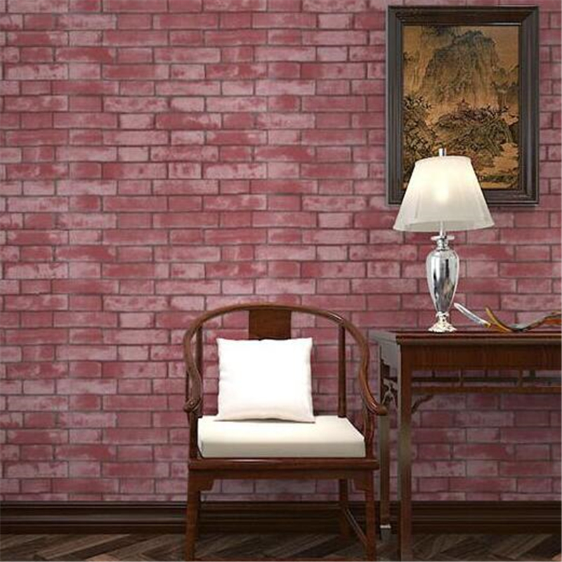 beibehang Modern Vintage Chinese Style wallpaper PVC/Vinyl Brick Stone Room Wall paper Home decoration papel de parede Roll beibehang stone brick 3d wallpaper roll modern vintage wall paper pvc vinyl wall covering for bedroom live room tv background