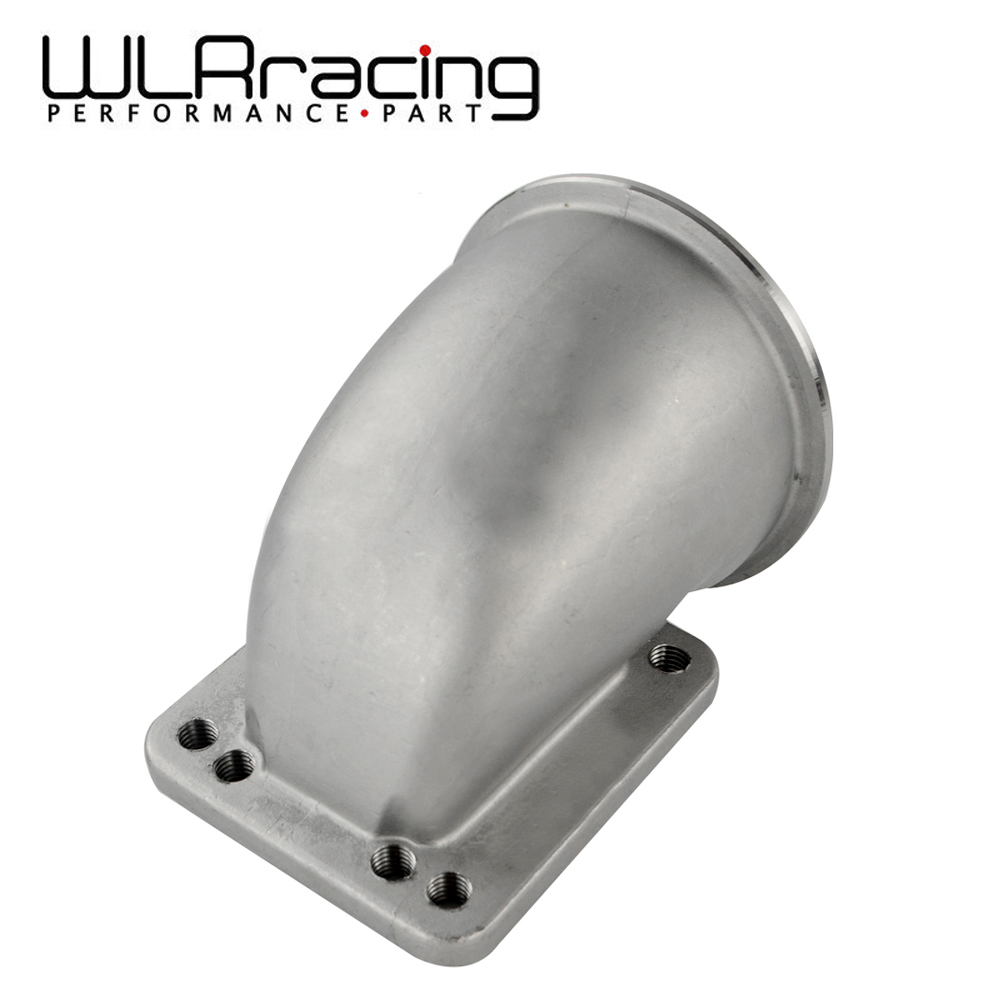 WLR RACING 3.5 Vband 90 Degree Cast Turbo Elbow Adapter Flange 304 Stainless Steel For T3 T4 Turbocharger WLR TEA35