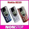 8210 Оригинал Nokia 8210 Разблокирована GSM 2 Г 900/1800 Мобильный Телефон Восстановленное Сотовый Телефон Бесплатная Доставка