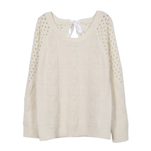 Womens Sweaters Autumn Winter Hollow Knitting Sweater Pullovers Tops