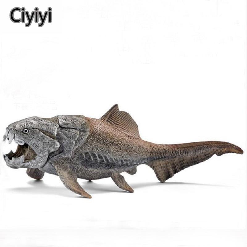 Jurassic Park Antigas Criaturas Brinquedos Peixes Dunkleosteus Mar Vida Dinossauro Brinquedos Modelo de Exibição Jouet Presente de Aniversário Para Crianças