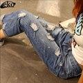 XXXXXL Fashion Summer Women Jeans ripped Hole Harem Pants Jeans Hight Waist vintage boyfriend jeans for women trousers plus size