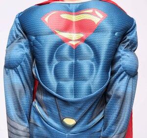 Image 4 - פורים Deluxe שרירים סופרמן תלבושות חג המולד ילדים ילד תחפושות ליל כל הקדושים המפלגה קרנבל Cosplay תלבושות