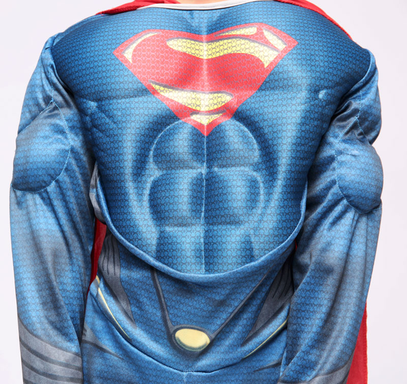 Purim Deluxe Muscle Superman Costume Christmas Kids Child Costumes Halloween Party Carnival Cosplay Costumes