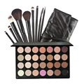 28 Colors Eyeshadow Foundation Powder Concealer Blusher Palette Cosmestic Makeup Set + 9pcs Professional Makeup Brushes with Bag