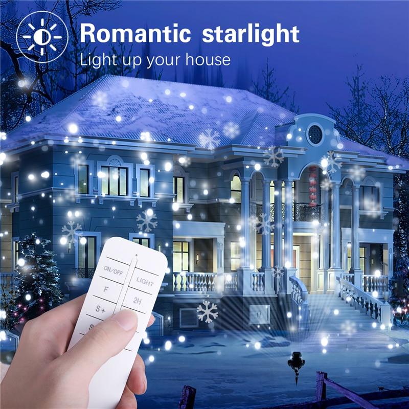 Schneefall führte Projektor Outdoor Garten Laser Projektor Lampe ...