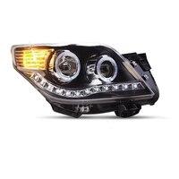 Para Авто Стайлинг габаритные огни сборки Cob Assessoires снаружи Led Drl Освещение Фары для автомобиля Toyota Prado