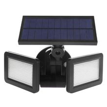 Dual Head 48LED Solar Light Radar Sensor Spotlight Waterproof Outdoor Garden Lamp Super Bright Flood LED Lights