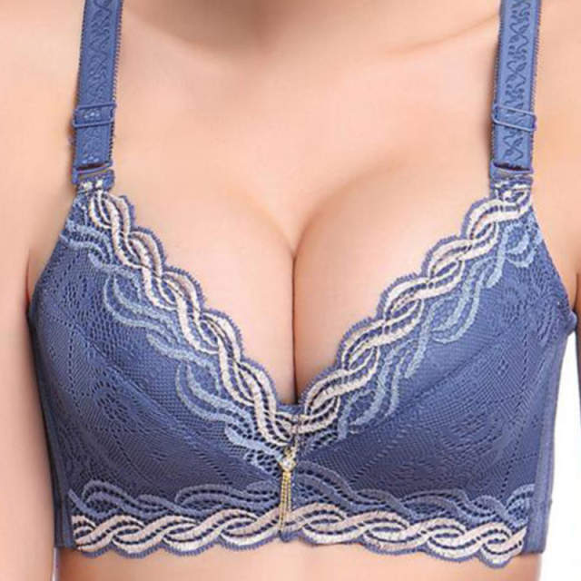 ecc91a9fd632d placeholder Female Underwear small breast Push Up Bra minimizer deep vs 5cm  thick Padded brassiere lace bras
