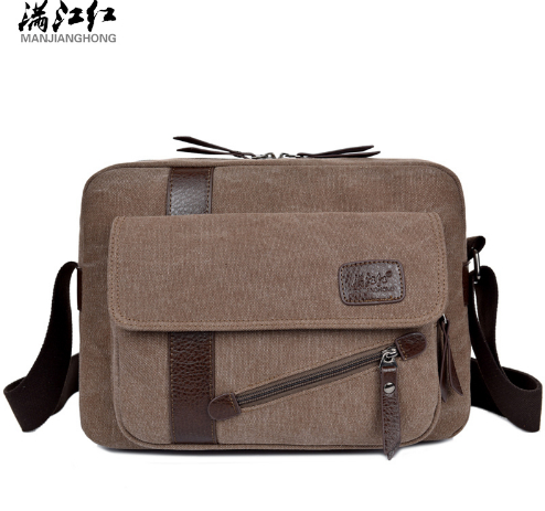 MANJIANGHONG 2017 New Men s Fashion casual Business Travel Bags Shoulder  Crossbody Canvas Briefcase Messenger Bag men s handbag-in Crossbody Bags  from … ed32a9055017f