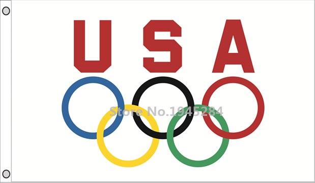17ecf4a9ca627a Usa anneaux olympiques drapeau bannière usa jeux olympiques nouveau  polyester drapeau jpg 619x360 Anneaux olympiques