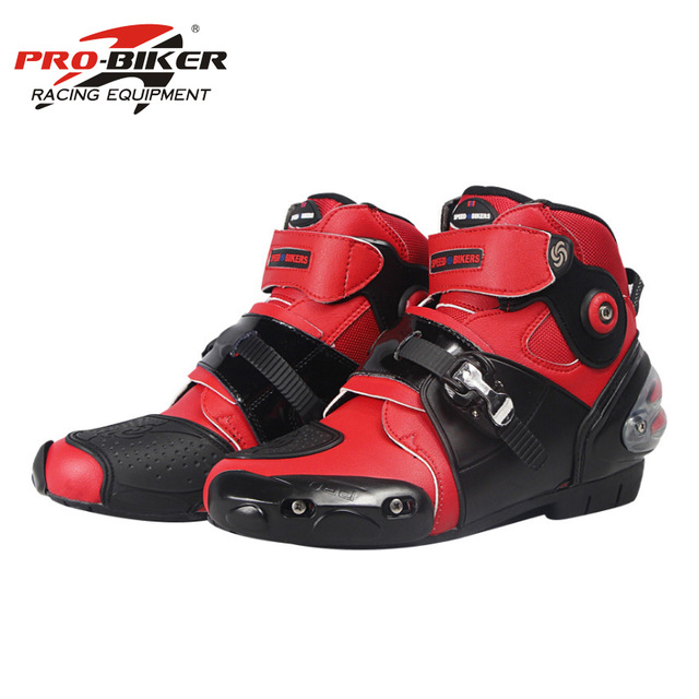 Motorrad Stiefel PRO-BIKER Hohe Ankle Racing stiefel BIKERS leder rennen Motocross Motorrad Reiten stiefel Schuhe A9003