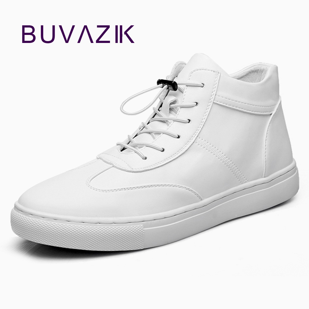 BUVAZIK Genuine leather sneakers lace-up casual mens shoes high quality cow leather comfortable shoes men men s leather shoes vintage style casual shoes comfortable lace up flat shoes men footwears size 39 44 pa005m