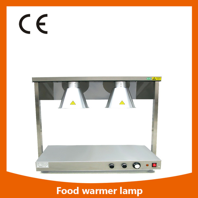 DR 2 Stainless Steel Body 2 Head Food Warmer Lamp Luxurious Buffet Heating  Lamps Kitchen