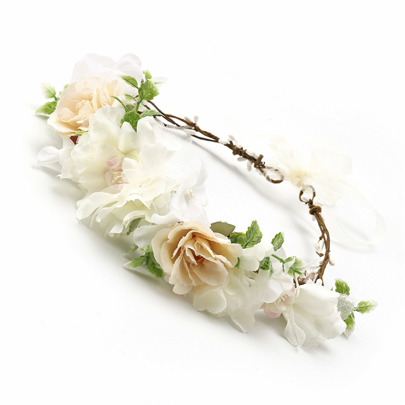 HIYONG 2019 New Fashion Flower Crown Festival Flower Crown For Head Flower Crown Women For Party Hair Garland in Hair Jewelry from Jewelry Accessories